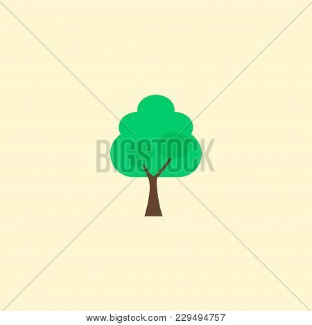 Tree Icon Flat Element.  Illustration Of Tree Icon Flat Isolated On Clean Background For Your Web Mo