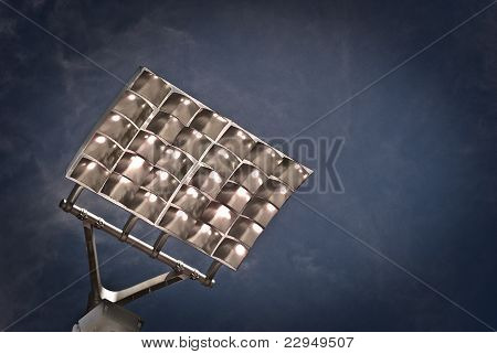 Dark Blue Stadium Lights