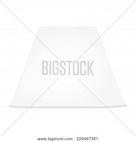 Isolated On White Background Vector Image Of A Sheet Of Paper. Sheet Of A4 Paper. A Sheet Of Paper I