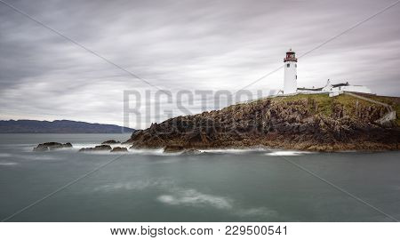 A View Of Fanad Head Lighhouse In Donegal.