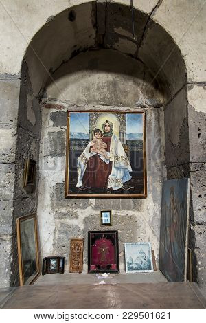 Sanahin, Armenia, September 20, 2017: Medieval Interior Of The Monastery Sanahin In Northern Armenia