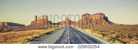 View Of Long Road To Monument Valley, Usa
