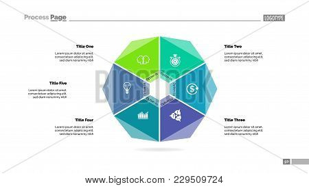 Cycle Diagram With Six Options. Option Chart, Segments, Slide Template. Creative Concept For Infogra