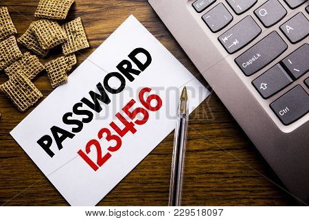 Handwriting Announcement Text Showing Password 123456. Business Concept For Security Internet Writte