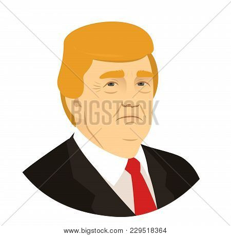 Donald Trump Portrait, President Of The Usa, March 18 2018