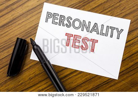 Writing Text Showing Personality Test. Business Concept For Attitude Assessment Written On Sticky No