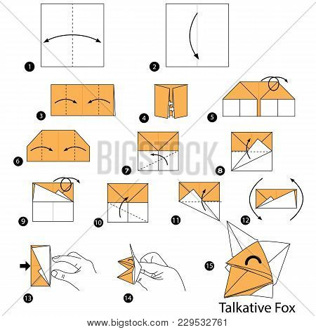 Step By Step Instructions How To Make Origami A Talkative Fox