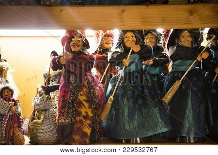 Witch Dolls For Sale Travelers People In Souvenir Gift Shop In Black Forest Or Schwarzwald At Baden-