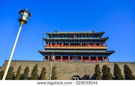 Beijing, China - Mar 1, 2018. Old Palace Located At Tiananmen Square. Tiananmen Is A City Square In