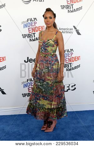 LOS ANGELES - MAR 3:  Kerry Washington_ at the 2018 Film Independent Spirit Awards at the Beach on March 3, 2018 in Santa Monica, CA