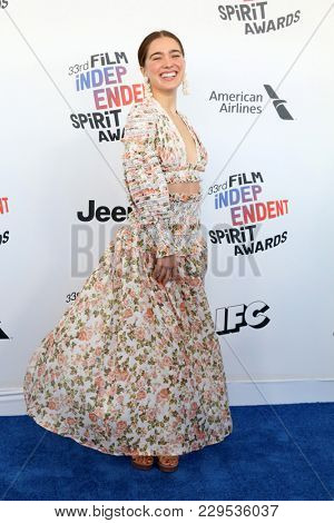 LOS ANGELES - MAR 3:  Haley Lu Richardson at the 2018 Film Independent Spirit Awards at the Beach on March 3, 2018 in Santa Monica, CA