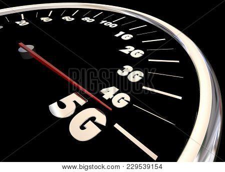 5G Mobile Data Network Cellular Telecommunication Plan 3d Illustration