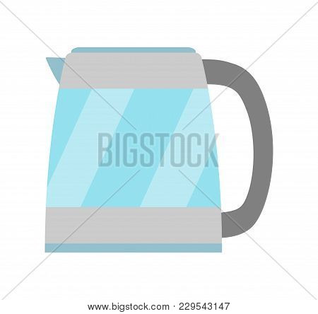 Kettle Simple Icon Isolated. Household Appliance. Kettle For Boiling Water. Flat Style. Vector Illus