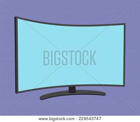 Tv Screen Simple Icon Isolated. Household Appliance. Led Or Lcd Widescreen Tv. Modern Tv. Flat Style