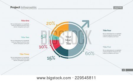Male Population Slide Template. Business Data. Graph, Diagram, Design. Creative Concept For Infograp