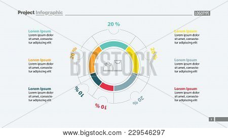 Shopping Bags Inside Circle Diagram Template. Business Data. Graph, Chart, Design. Creative Concept