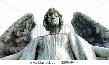 Upward Angle View Of An Angel With Open Arms
