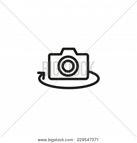 Icon Of Camera Rotation. Switching, Photographic Equipment, Digital. Photo Industry Concept. Can Be