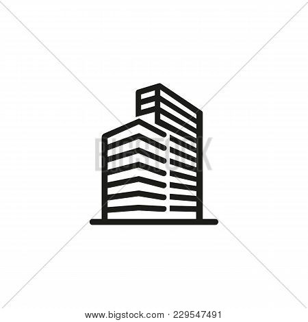 Icon Of High-rise Office Building. Construction, Tall, Urban. Architecture Concept. Can Be Used For