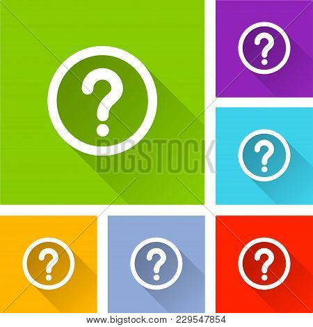 Illustration Of Question Mark Icons With Shadow