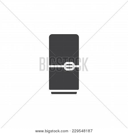 Fridge Vector Icon. Filled Flat Sign For Mobile Concept And Web Design. Refrigerator Simple Solid Ic