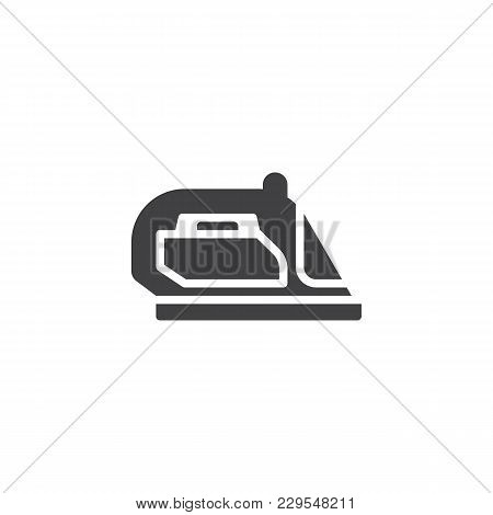 Iron Vector Icon. Filled Flat Sign For Mobile Concept And Web Design. Flatiron Simple Solid Icon. Sy