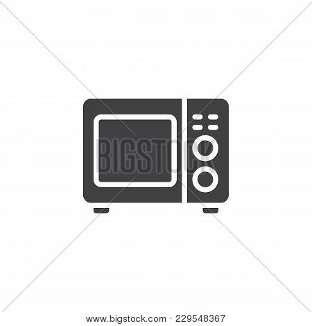 Microwave Oven Vector Icon. Filled Flat Sign For Mobile Concept And Web Design. Kitchen Appliances S