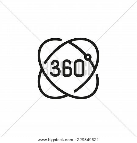 Icon Of Augmented Reality. Rotation, 360 Degree, Innovation. 3d Concept. Can Be Used For Topics Like