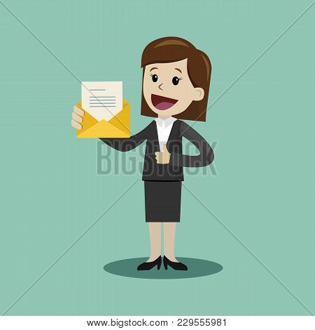 Business And Finance. Flat Style Vector Illustration Clipart.