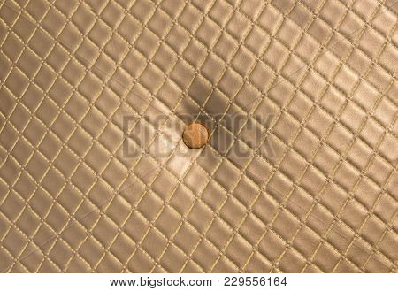 Gold Vintage Upholstery Sofa Leather Texture Surface Background,luxury Furniture Backrop