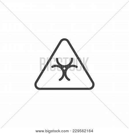 Biohazard Outline Icon. Linear Style Sign For Mobile Concept And Web Design. Infection Sign Simple L