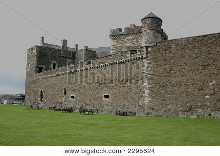 Black Ness Castle Wall