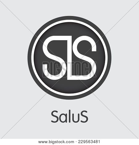 Salus - Blockchain Cryptocurrency Logo. Vector Symbol Of Virtual Currency Icon On Grey Background. V