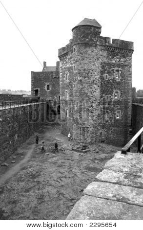 View Of Black Ness Courtyard Ramparts And Keep