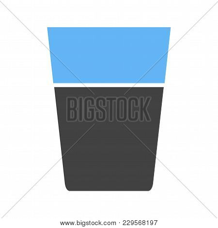Water, Glass, Crystal Icon Vector Image. Can Also Be Used For Household Objects. Suitable For Use On