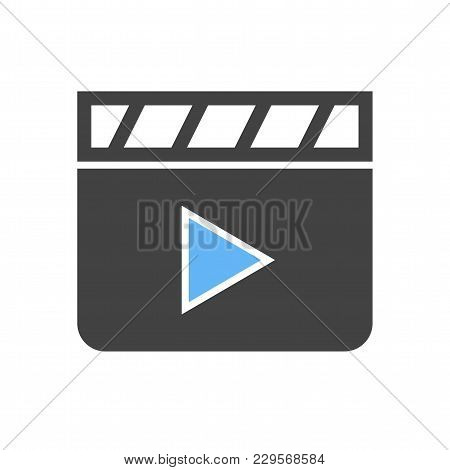 Clapper, Board, Film Icon Vector Image. Can Also Be Used For Multimedia. Suitable For Use On Web App