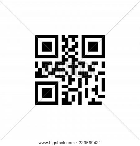 Qr Code Sample For Smartphone Scanning Black On White Background