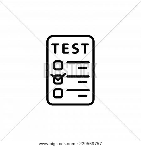 Line Checkmark Icon. Vector Illustration Black On White Background