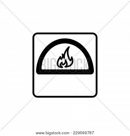 Oven Line Icon. Vector Illustration Black On White Background