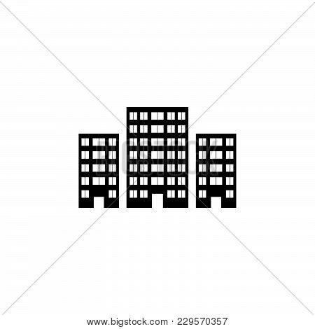 Building Icon Vector Illustration Black On White Background