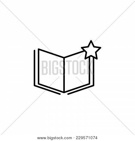 Vector Favorite Document Icon Black On White Background