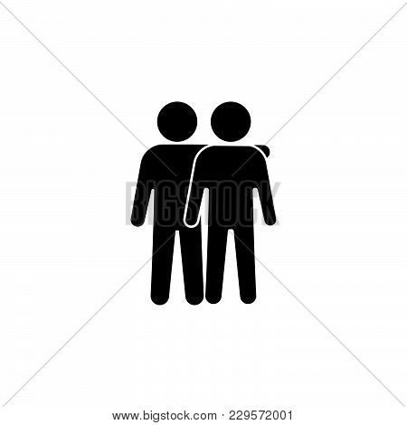 Friends Icon Vector Illustration. Friendship Sign.