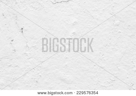 White Raw Concrete Wall Texture Background Suitable For Presentation And Web Templates With Space Fo