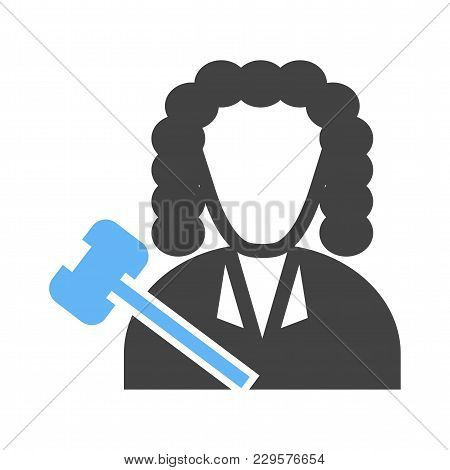 Judge, Courtroom, Court Icon Vector Image. Can Also Be Used For Professionals. Suitable For Web Apps