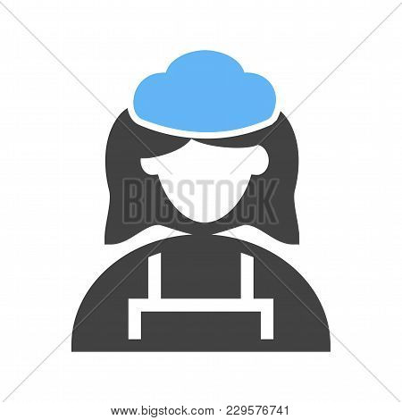 Cleaning, Maid, Service Icon Vector Image. Can Also Be Used For Professionals. Suitable For Web Apps
