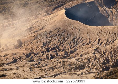 Mount Bromo Volcano (gunung Bromo) During Sunrise From Viewpoint On Mount Penanjakan, In East Java,