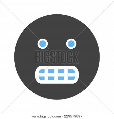 Grinning, Smiling, Smiey Con Vector Image. Can Also Be Used For Emotions And Smileys. Suitable For M