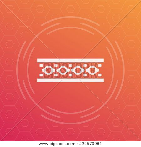 Led Strip Icon, Vector Pictogram, Eps 10 File, Easy To Edit