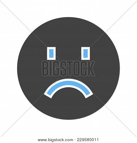 Sadness, Sad Face, Upset Icon Vector Image. Can Also Be Used For Emotions And Smileys. Suitable For