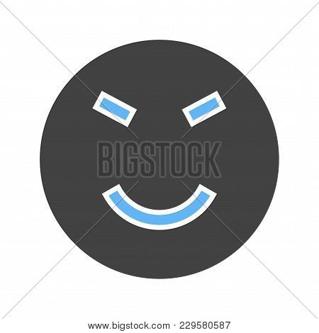 Amused, Amusement, Happy Icon Vector Image. Can Also Be Used For Emotions And Smileys. Suitable For